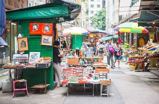 Upper Lascar Row in Sheung Wan