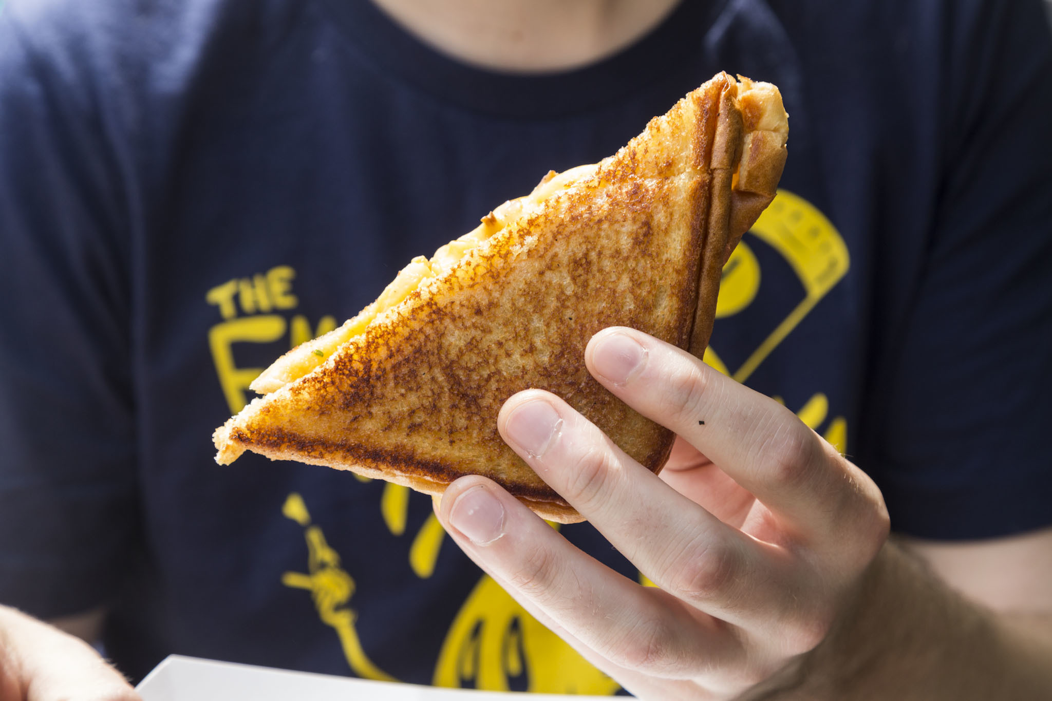 Bacon Ranch Mac & Cheese Grilled Cheese from Doom Street Eats