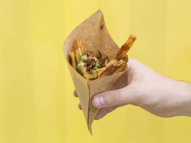 Loaded Baked Potato Frites from Bruges Brothers