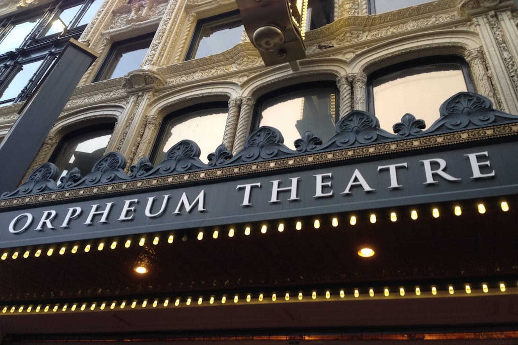 SHN Orpheum Theater front sign
