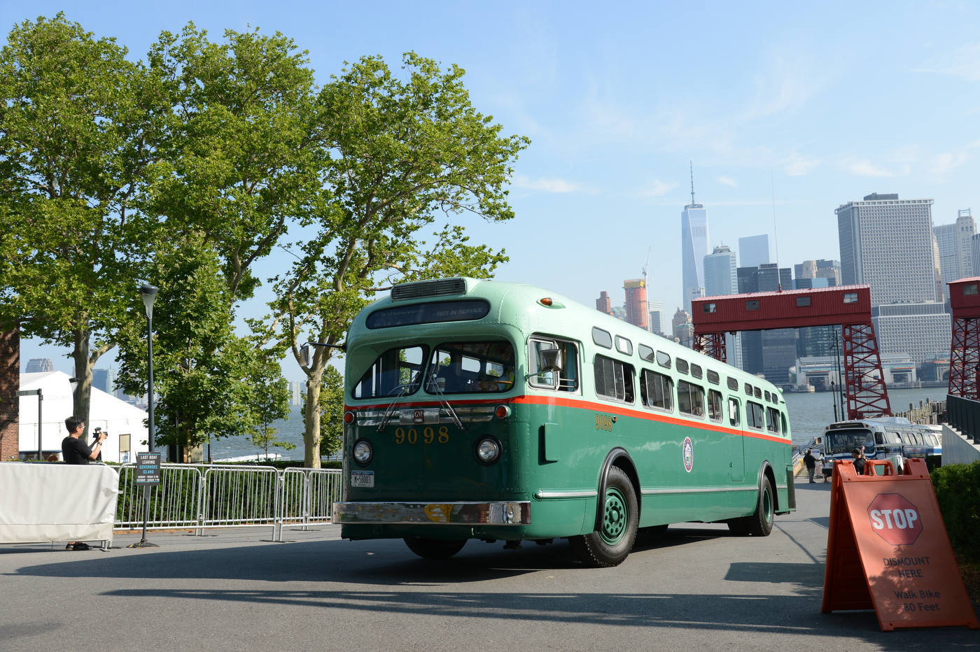 Vintage buses will be rolling onto Governors Island this weekend