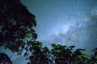 Sky at night with stars
