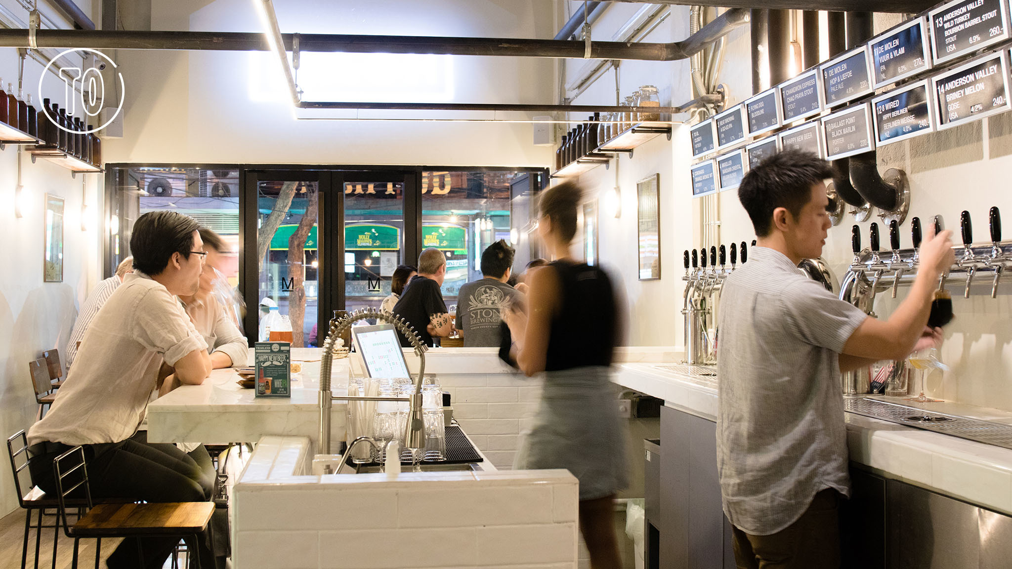 Mash, a new beer and burger joint in Silom