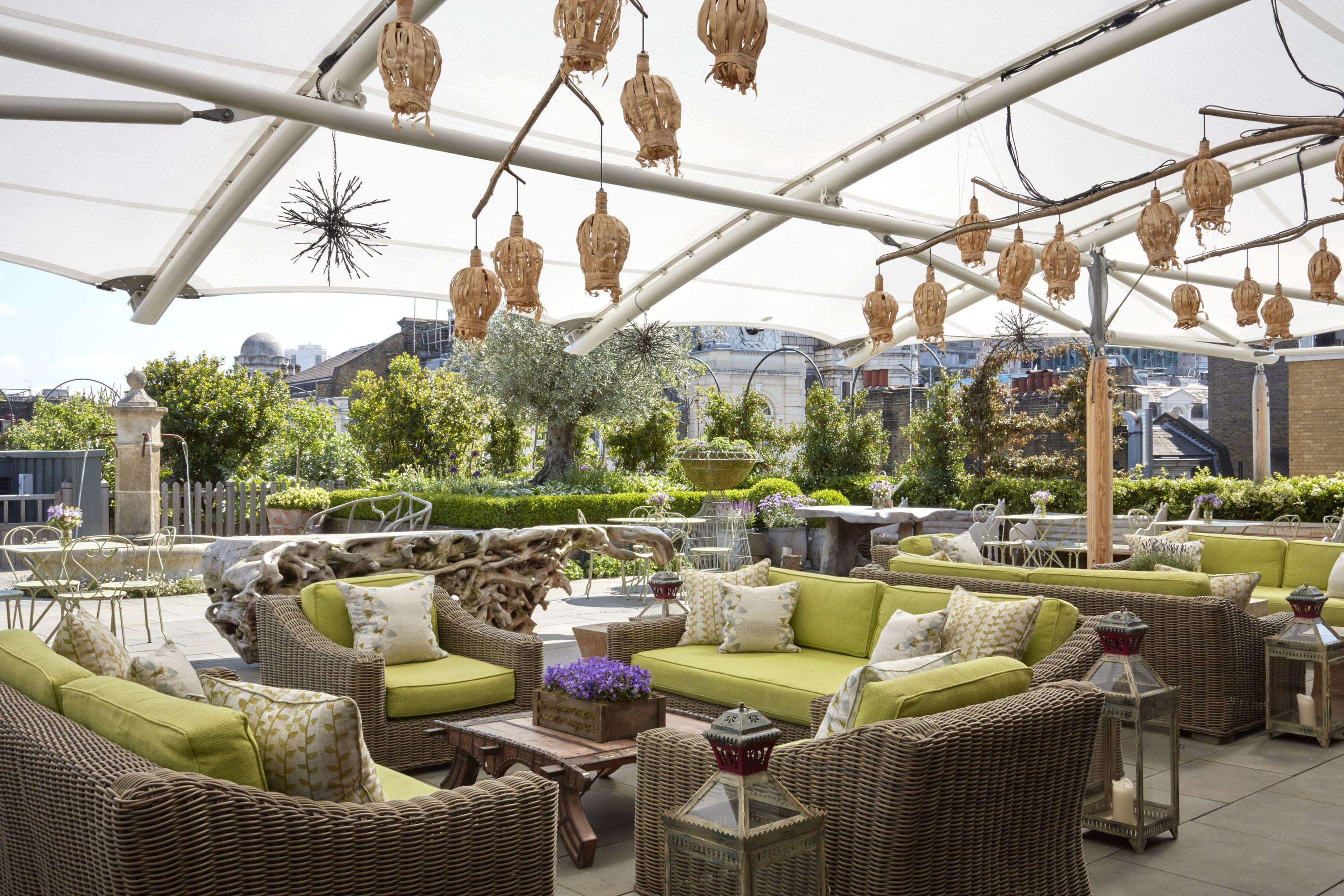 Ham Yard Hotel Roof Terrace Bars And Pubs In Soho London