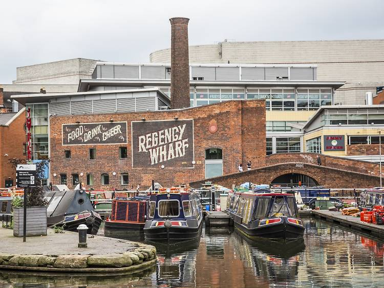 Explore Brindleyplace and the canal quarter