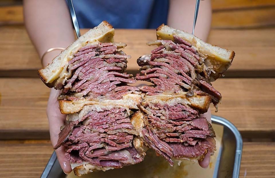 mortys 1kg reuben sandwich