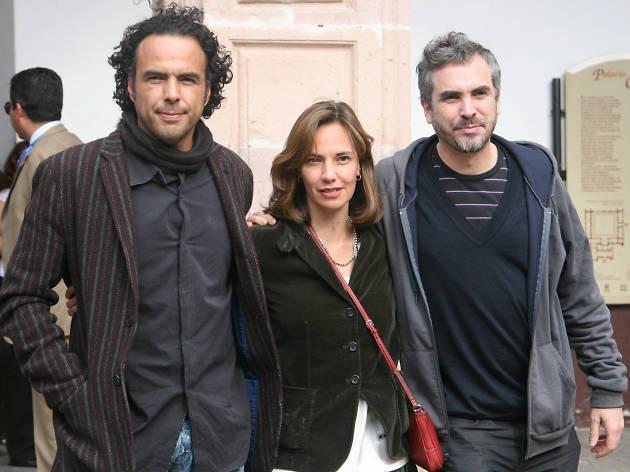 foto de Alejandro González Iñárritu, Daniela Michel y Alfonso Cuarón en el  FICM 2007