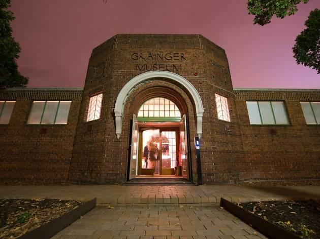 Grainger Museum at night