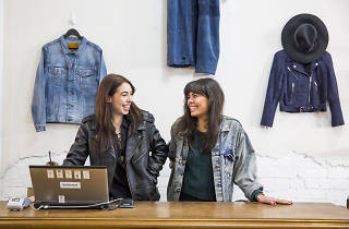 Women at a denim store