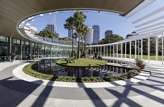 Permanent structure at the Royal Botanic Gardens