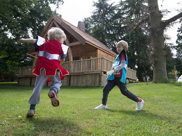 Knight's Village at Warwick Castle, Medieval Glamping, travel, kids