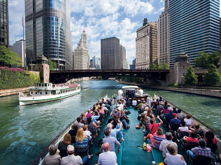 Cruise down Lake Michigan or the Chicago River