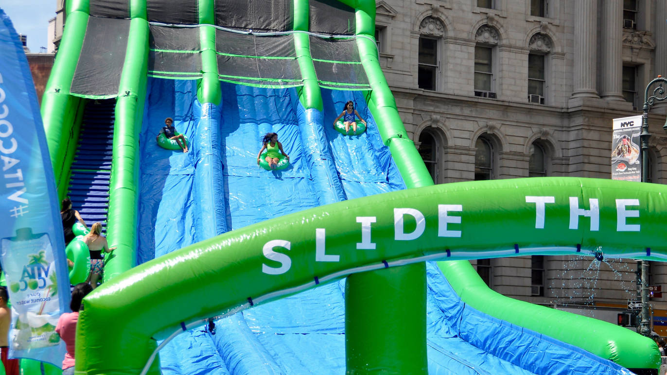 A free waterpark is coming to Summer Streets this season!