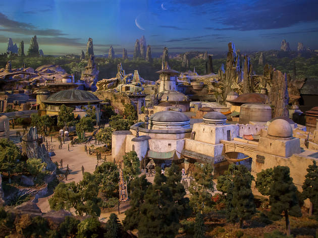 Get a sneak peek with this massive 3-D model of the Star Wars land