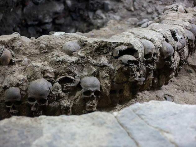 Gran Tzompantli, zonas arqueológicas, descubrimientos arqueológicos en la CDMX