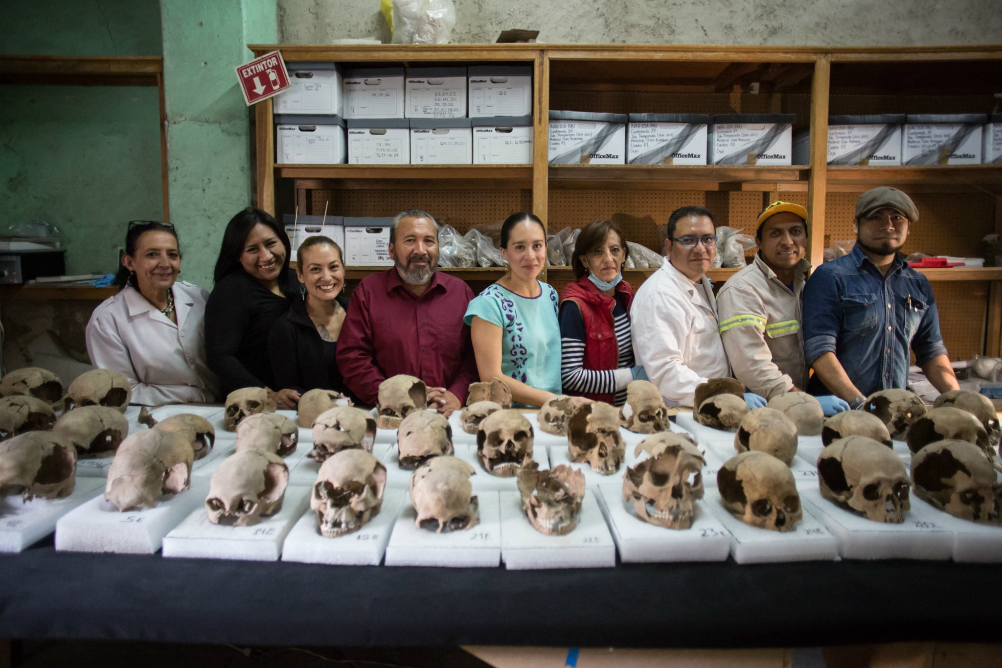 Equipo de arqueólogos del Programa de Arqueología Urbana