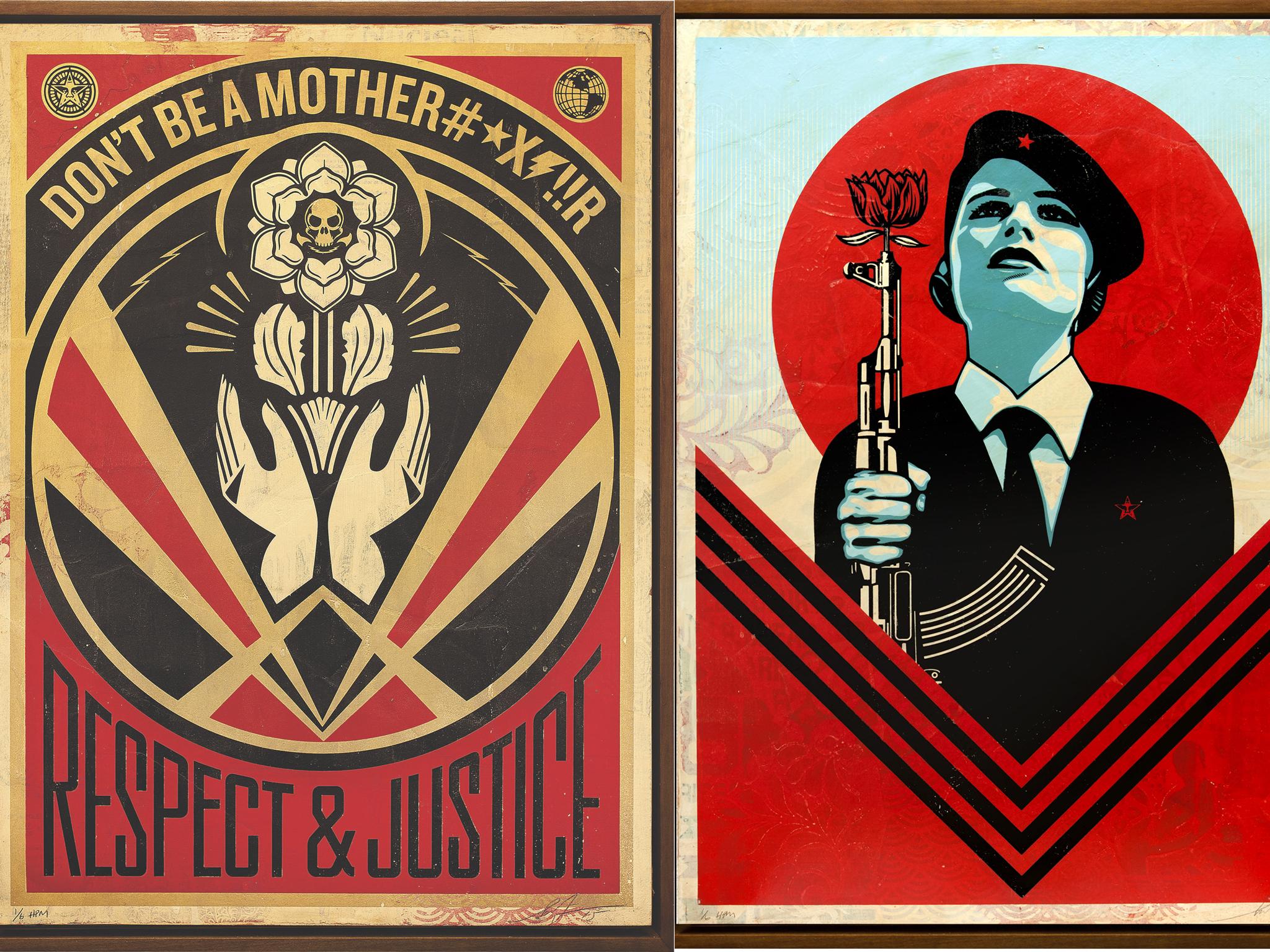 As colagens e serigrafias de Shepard Fairey chegam à Underdogs