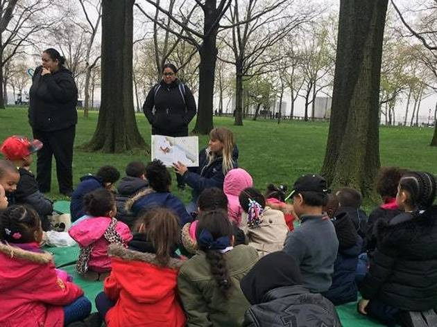 Storytime at the Battery