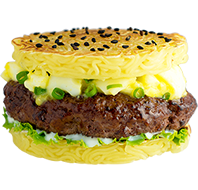 Wagyu Ramen Burger at Tatsu Ramen
