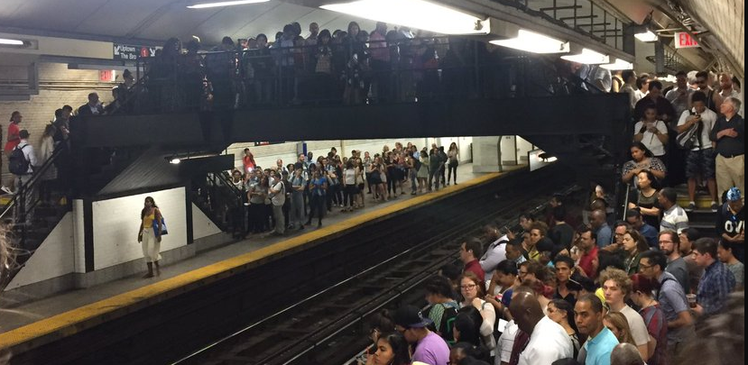 A hellish morning commute leaves hundreds of subway riders stuck underground
