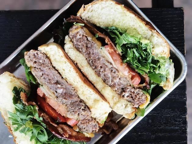 Truffle Burger at Chomp Eatery