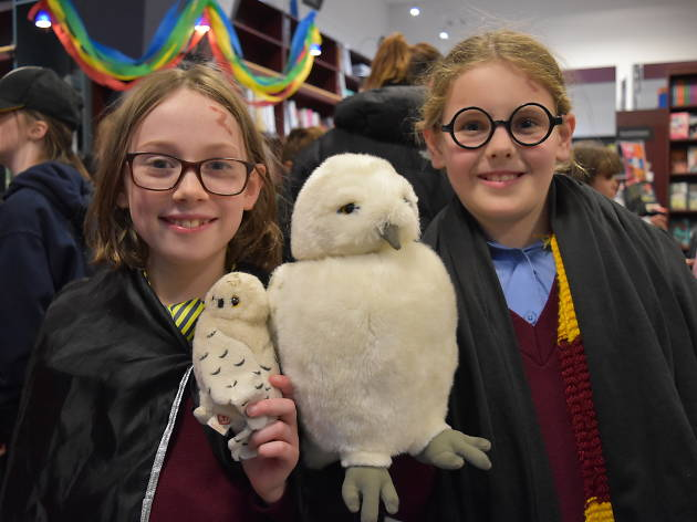 Two children dressed up as Harry Potter