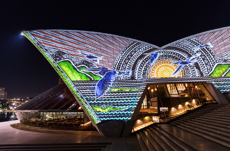Projections on Sydney Opera House