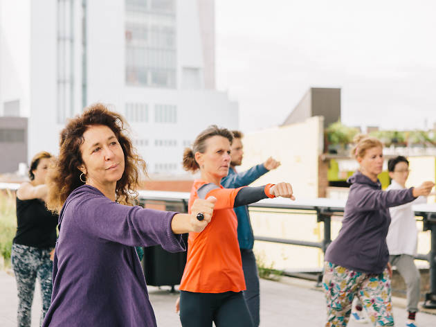Take free meditation and Tai Chi classes on the High Line this summer
