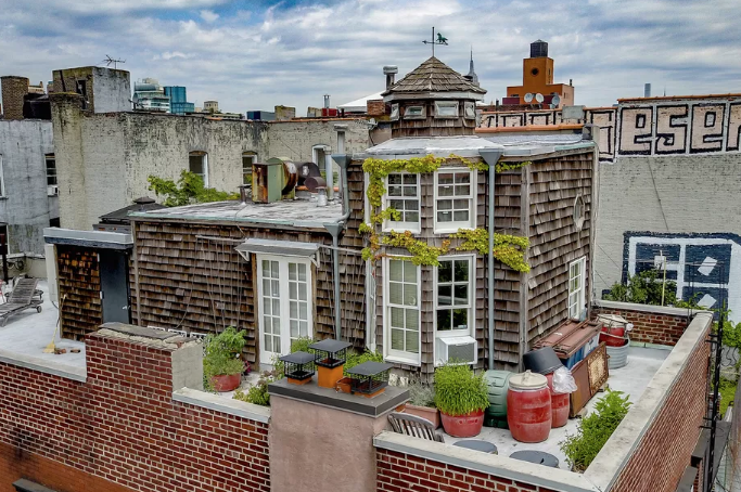 This adorable rooftop cottage is currently for sale in the East Village