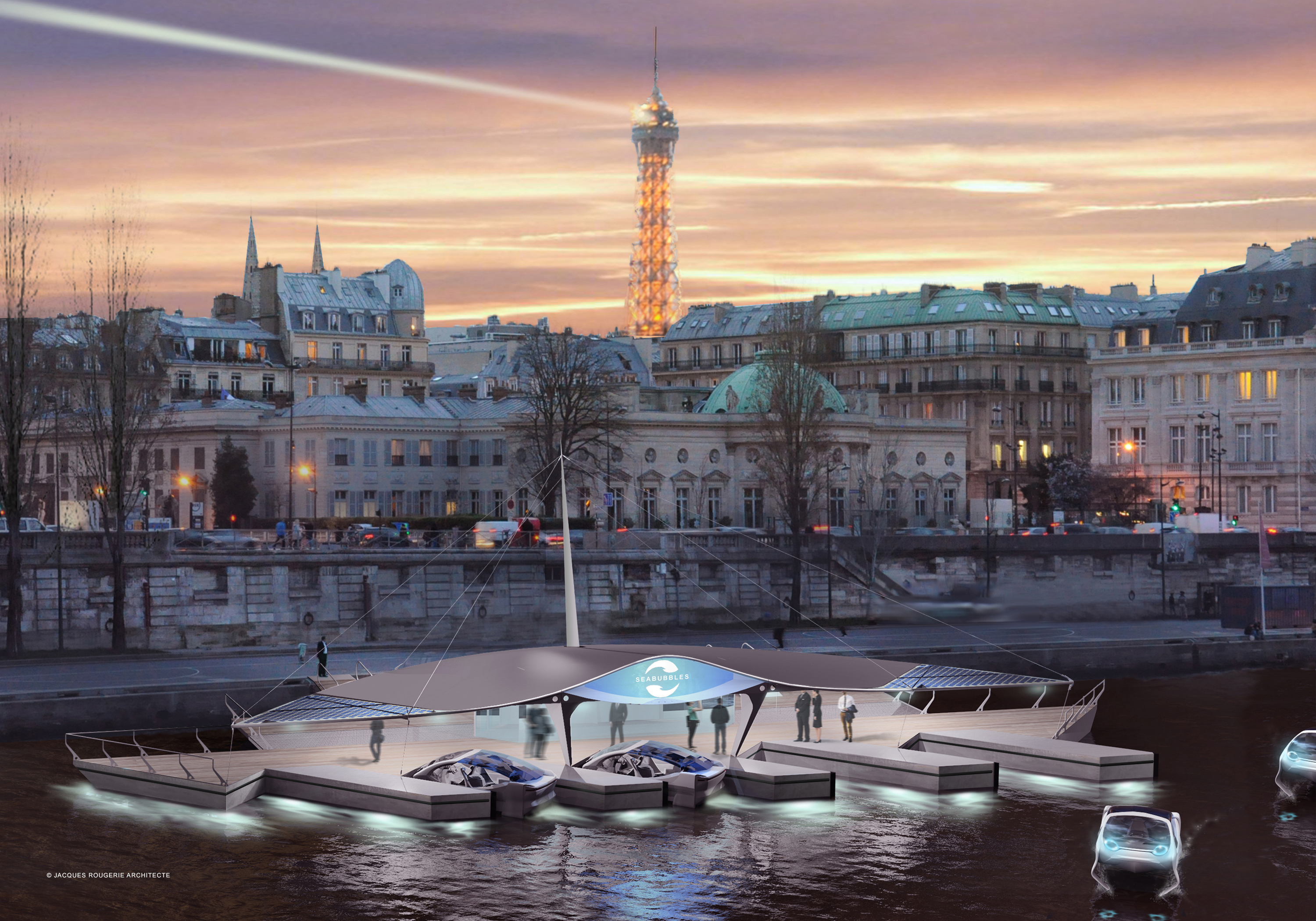 Paris's bubble taxis