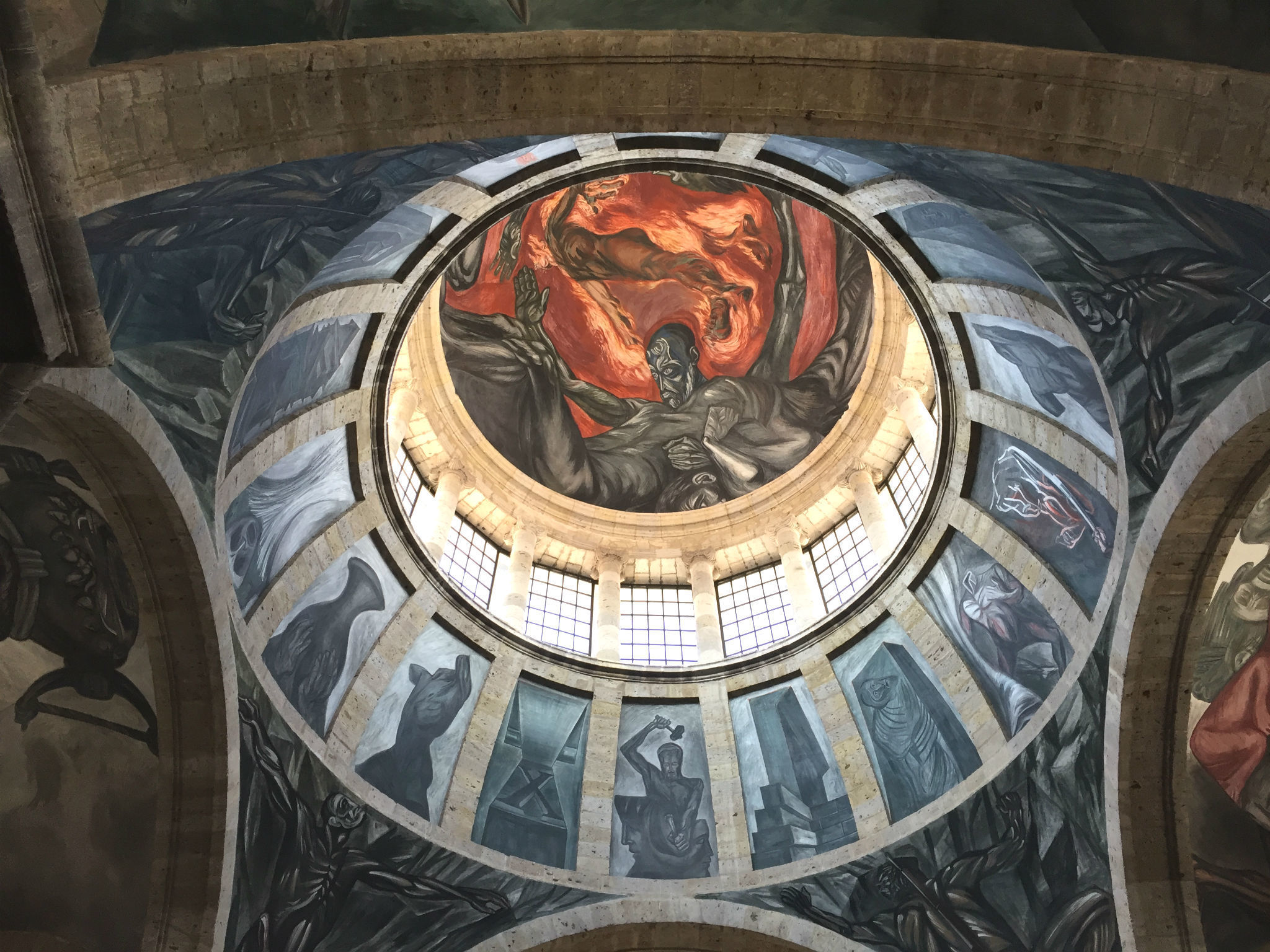 Murales de José Clemente Orozco en el Hospicio Cabañas