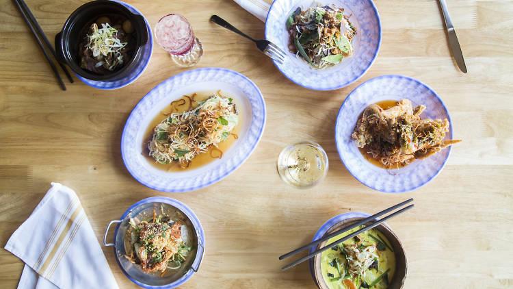 Plates of food pov