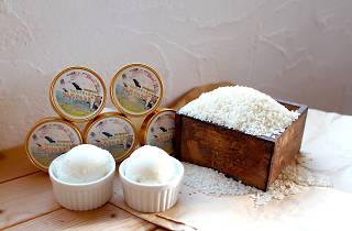 兵庫県、豊岡市『コウノトリのお米アイス』