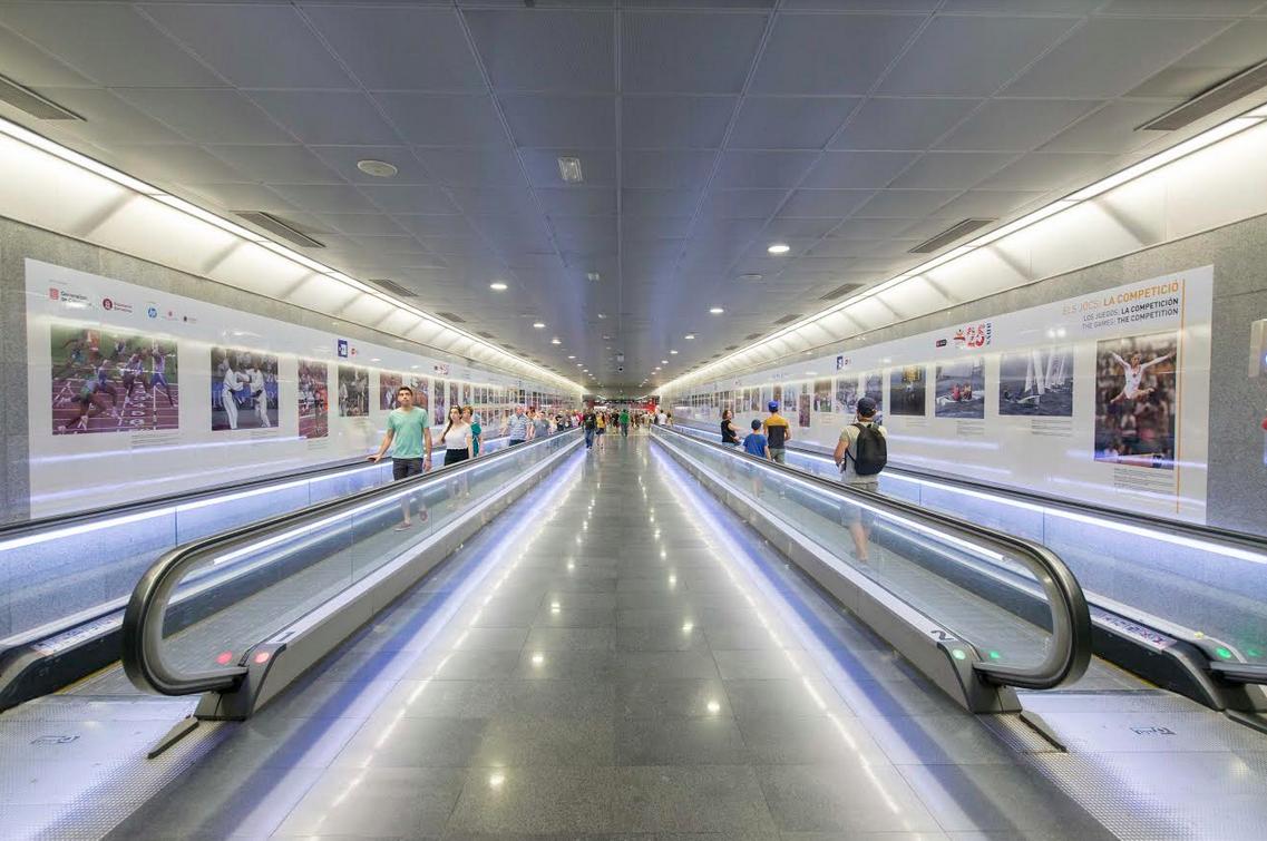 L'estació de Diagonal, convertida en una expo sobre Barcelona 92 [FOTOS]