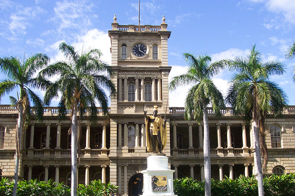 Iolani Palace in Honolulu, HI
