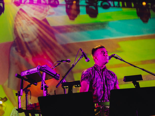 Photos from the Sufjan Stevens-fronted 'Planetarium' show at Hollywood Forever