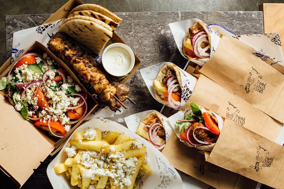 Greek Street Food spread