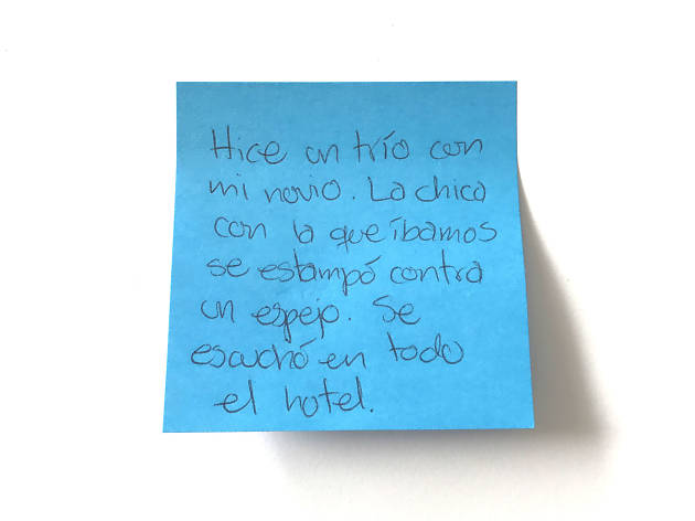 Confesiones de post-it: ¿Qué es lo más divertido que te ha pasado en un hotel?