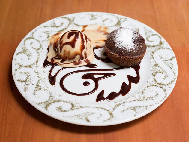 Fondant de chocolate de Bistrot Arlequín