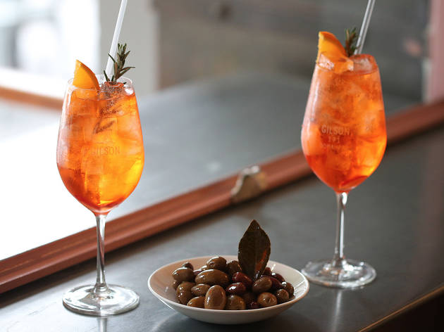 Aperol spritz at Gilson