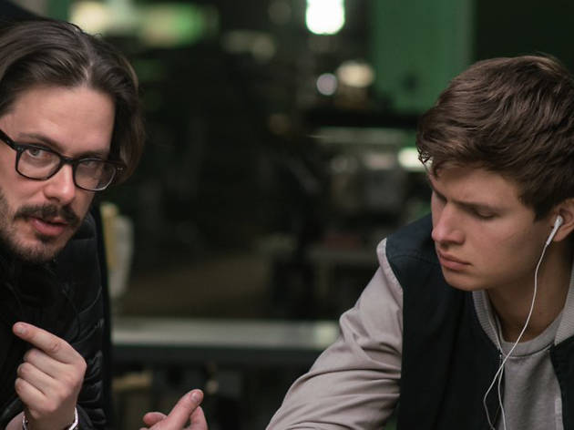 Edgar Wright directing Baby Driver