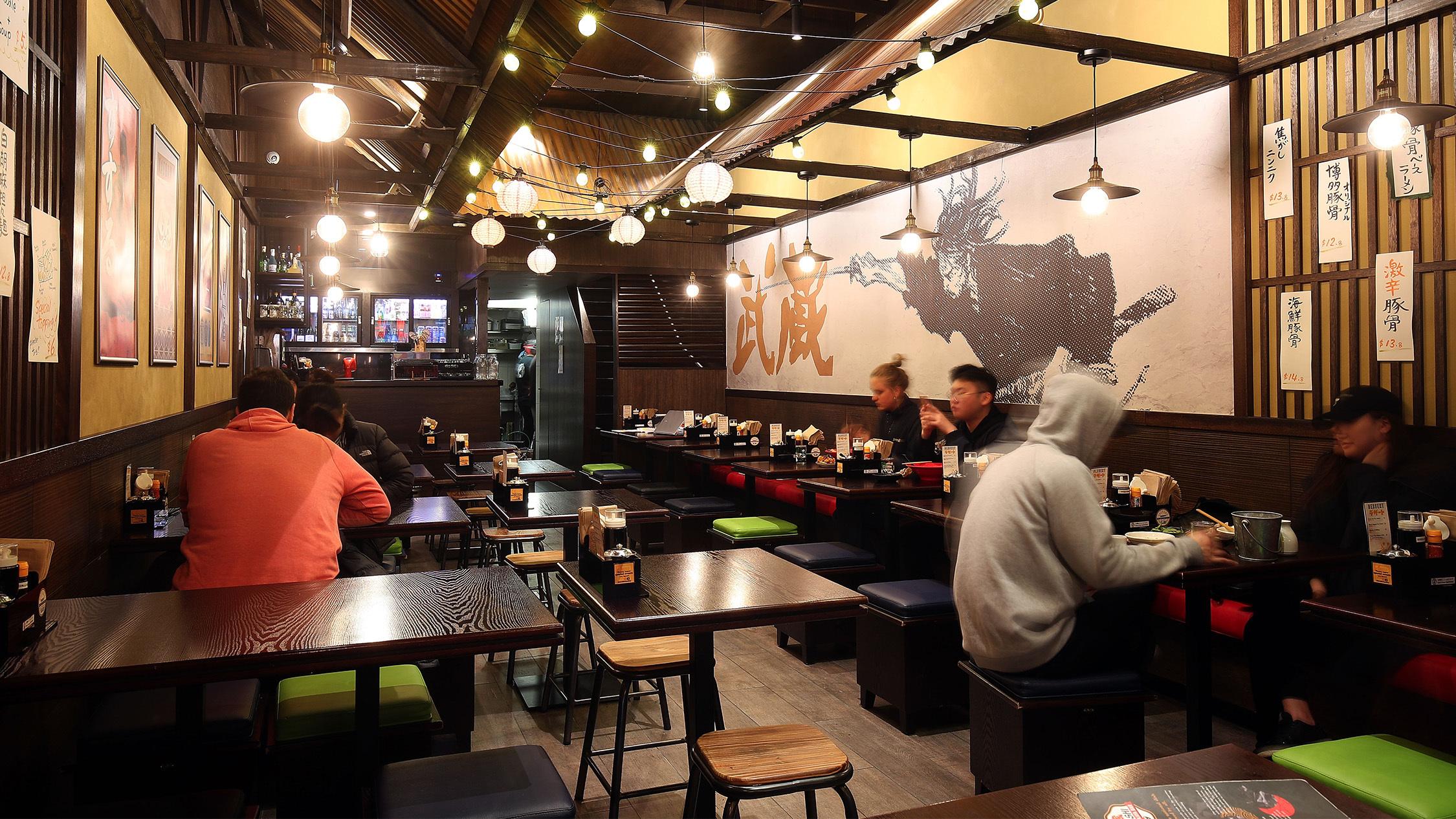 Interior at Musashi Ramen