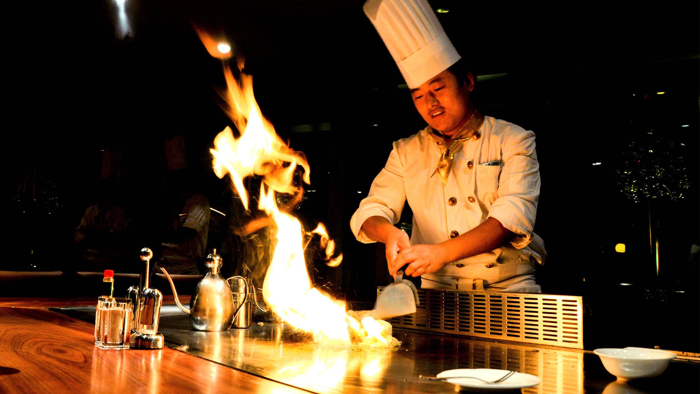 Generic teppanyaki flames