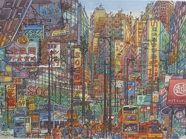 Tones of Festival: Modern Hong Kong Watercolour