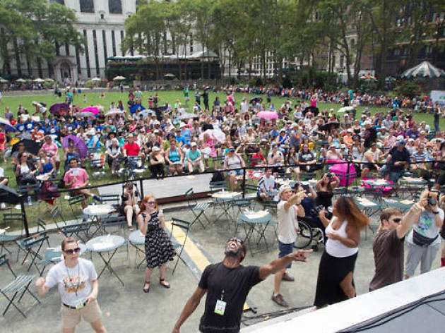 Watch your favorite Broadway stars perform in Bryant Park this summer