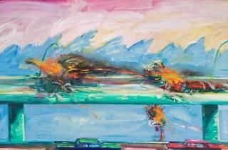 Painting detail by Carlos Almaraz