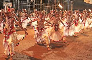Kandyan dancers perform in synchrony