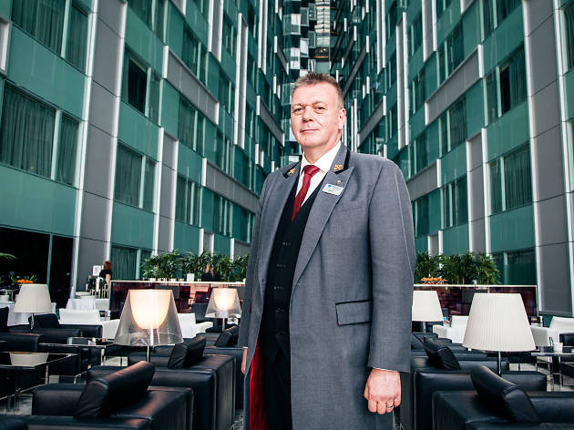 David Haines, hotel concierge