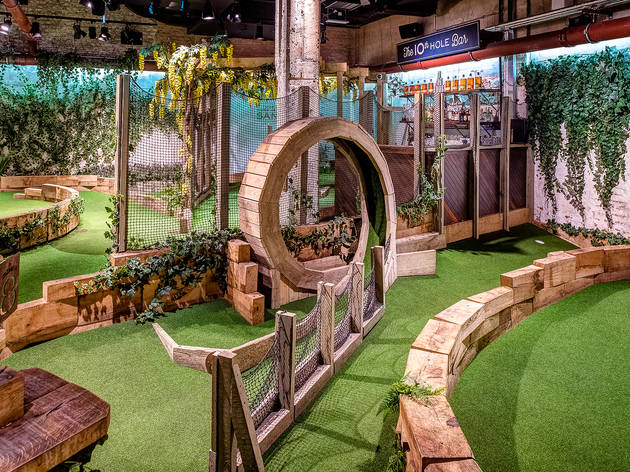Try your hand at Swingers crazy golf