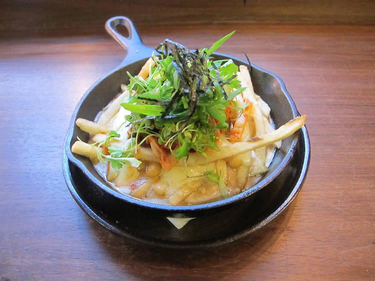 Kimchi disco fries at Mokbar